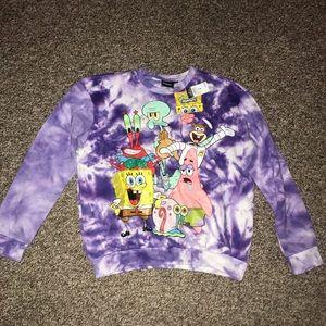 Tie dye Sponge bob crew neck sweater